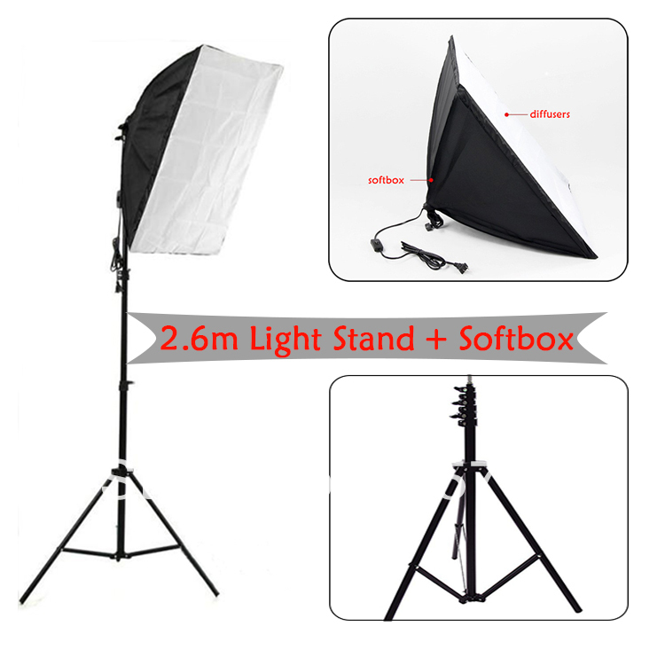 2.6m light stand + soft box wholesale photography supplies