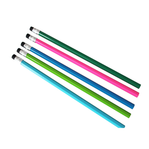 High quality standard black lead HB pencils with eraser