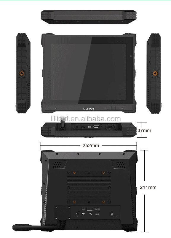 LILLIPUT 9.7 Inch Industrial Tablet with WIFI/Buletooth/GPS/Carema/3G function