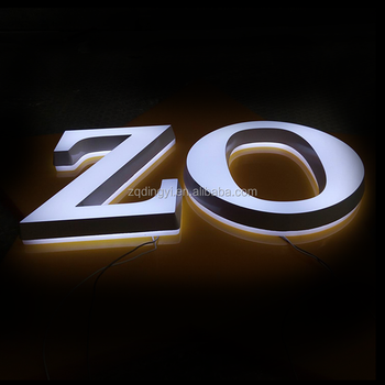 professional led advertising signs factory custom top quality led illuminated acrylic mini reverse channel letters