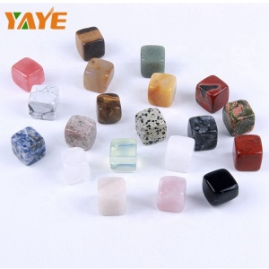 Bulk Wholesale Polished Geological Cognition Cube Set Mixed Semiprecious Stone Cube for Home Decoration
