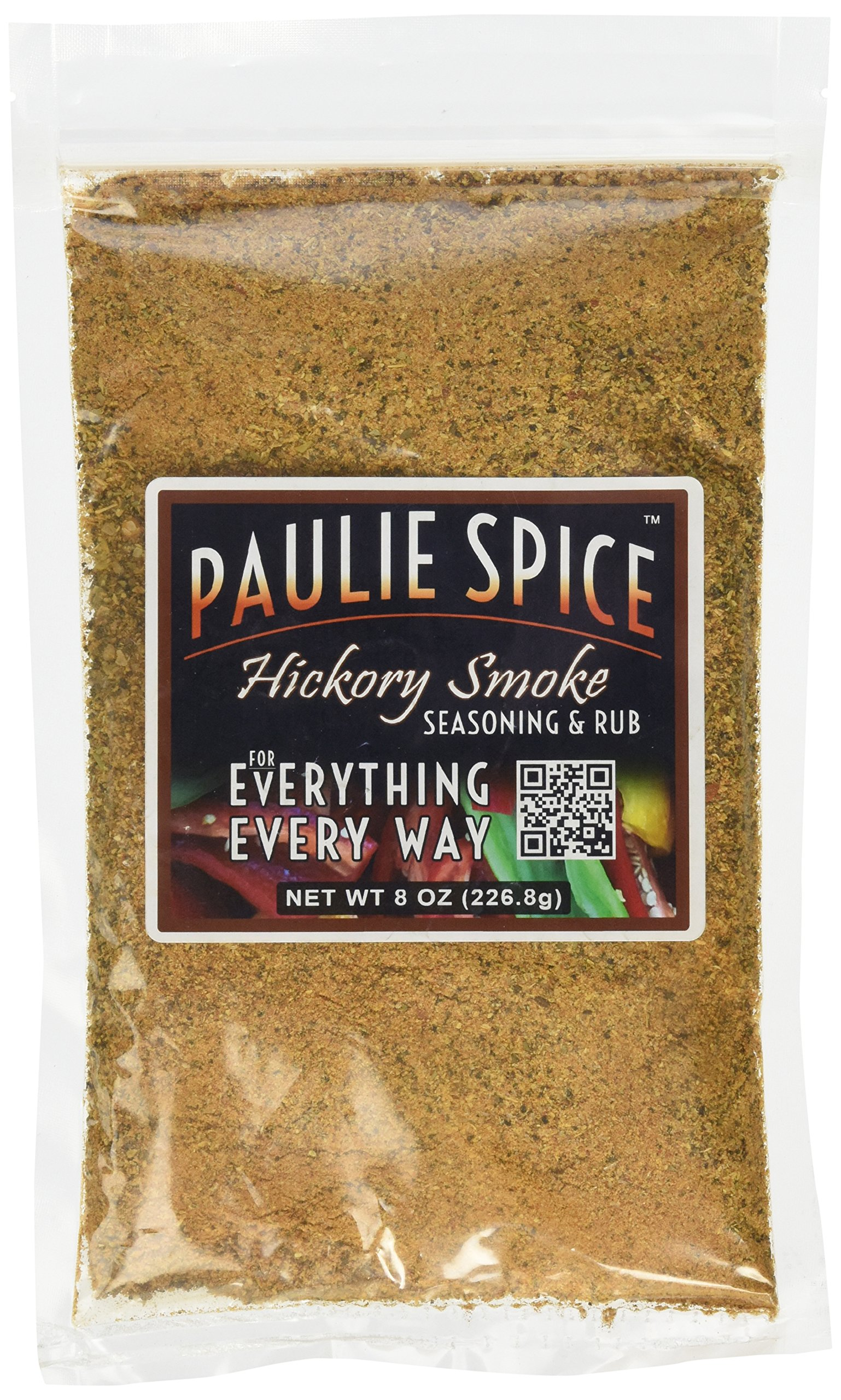 Paulie Spice : Sweet Hickory Smoke BBQ Seasoning and Rub For: Steak, Ribs, Rib, Meat, Pork, Chicken, Wings, Beef, Brisket, Salmon, Prime Rib, Fish, Grill, Grilling, Smoked, Barbecue, Dry, Rubs, Spices