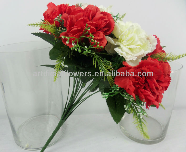 Carnation Flower Bouquet For Wedding Decoration - Buy Artificial ...