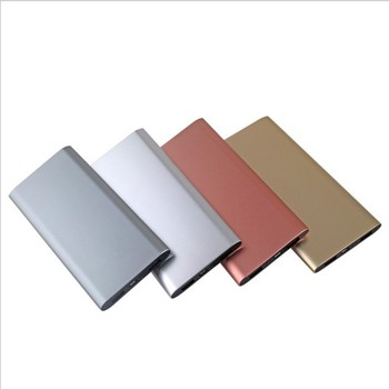 2019 New Arrivals Multi-color Portable Charger Built-in 8000Mah Battery Custom Aluminum Alloy Shell Slim Metal Power Bank