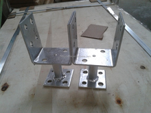 Hot Dip Galvanized Adjustable U Shaped Concrete Post Support