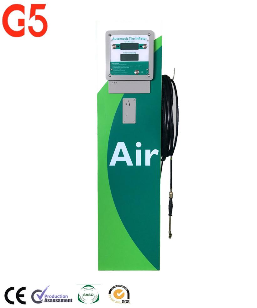 Monedas de Metal totalmente Digital automático G5 Inflador de neumáticos para coche máquina de compresor de aire de la estación aérea proveedor zhuhai