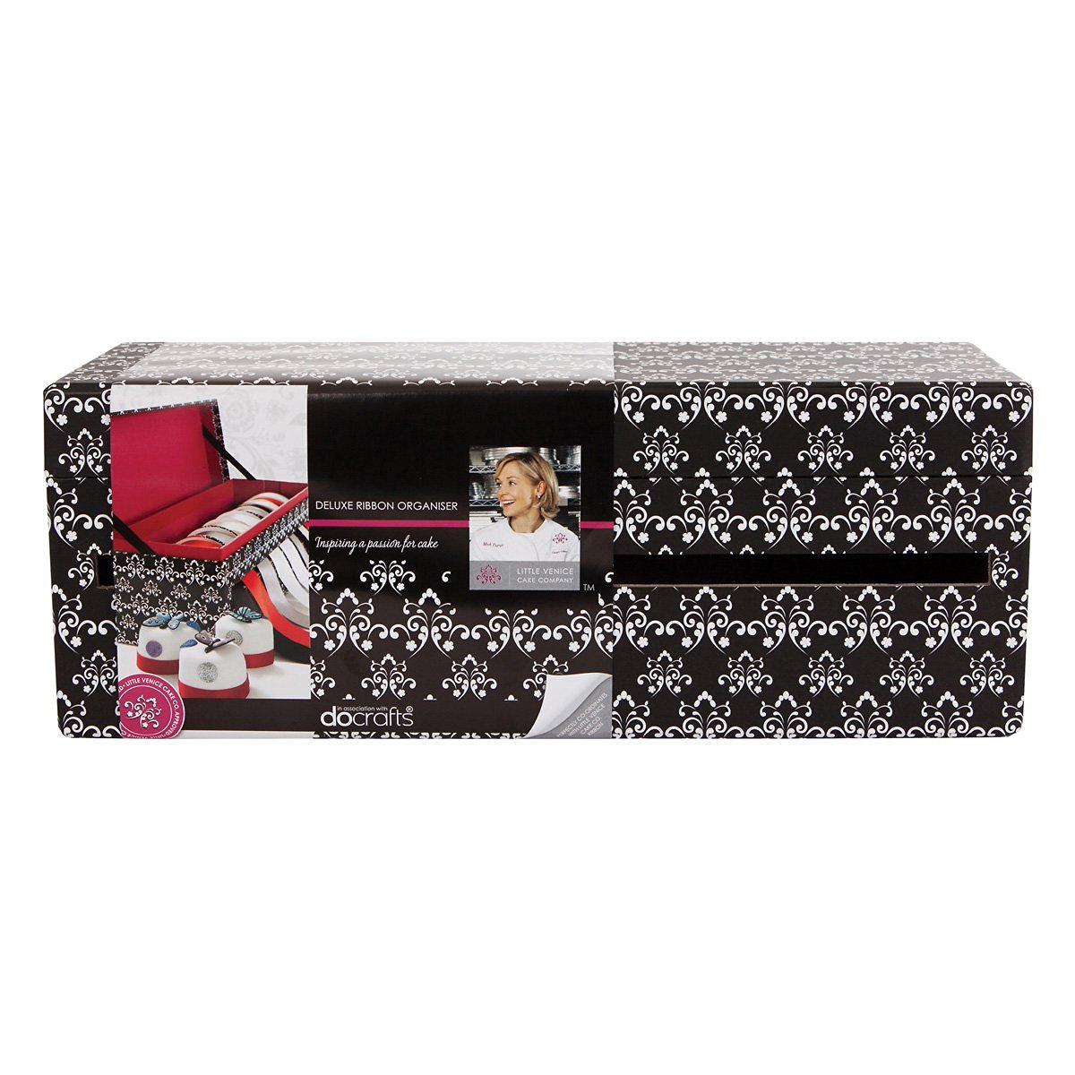 Little Venice Cake Deluxe Ribbon Organizer, 4.5 by 12.5 by 4.25-Inch