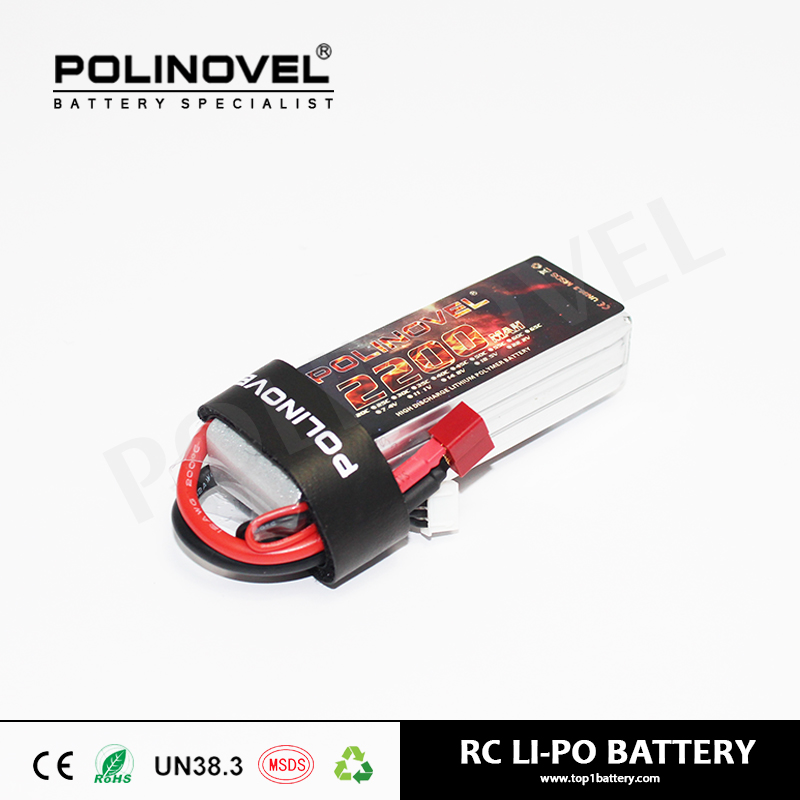Hot sell 25C discharge rate lipo battery 11.1v 2200mAh for rc quadrotor from China
