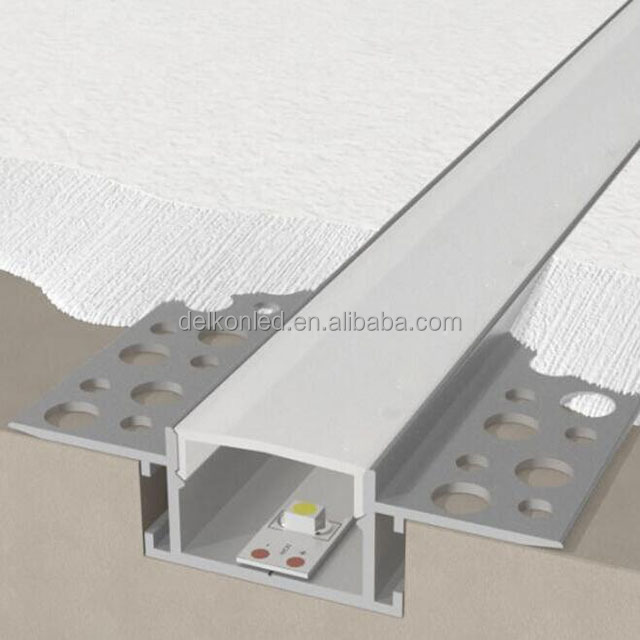 Delkon T6030 LED Aluminum Extrusion Profile Trimless Led Profile for Ceiling / Drywall