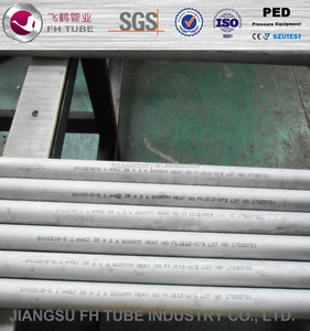 cold rolled stainless steel seamless tube/pipe grade S32205 in hot sale
