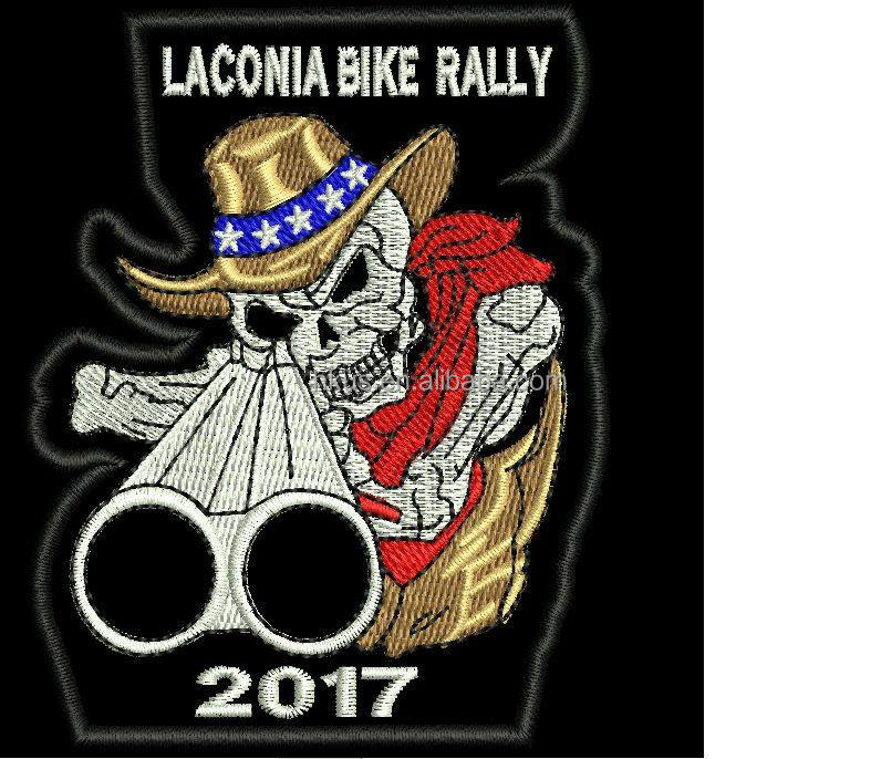 Laconia Bike rally 2017 Patch Custom Laconia Embroidery Patches for Garment Customized Embroidery Patch Products