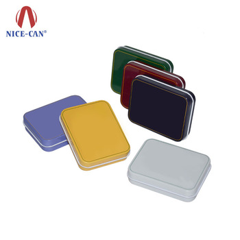 Colorful CMYK or PMS Offset Printing Small Rectangular Food Grade No Hinged Wholesale Mint Candy Tin