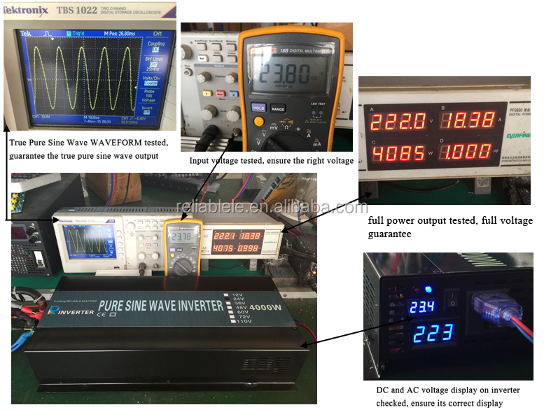 CE EMC approved 4000w off grid pure sine wave solar power inverter