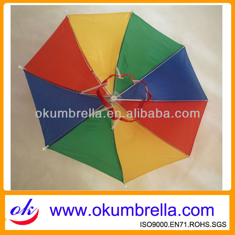 rainbow umbrella on head umbrella for mini size cheaper prices