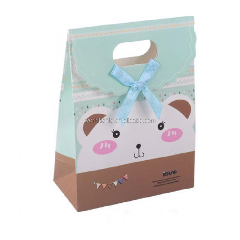 Creative paper gift bags sweet candy packaging for wedding gift