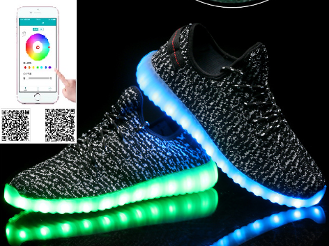 2017 High Quality Men and Women Hot Saling Slipper ladies light up shoes for men