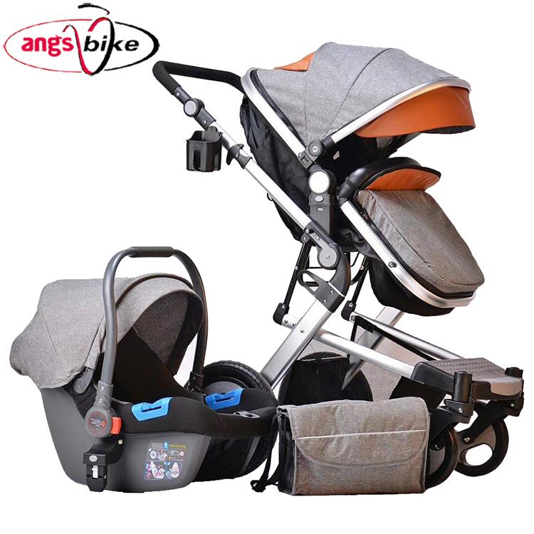 2018 on-line di vendita calda del bambino seggiolino auto di trasporto 3 in 1 multi-funzionale del bambino passeggino