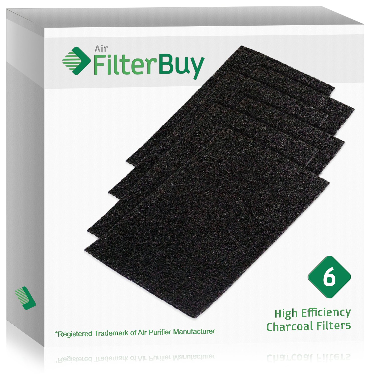 6 - FilterBuy Holmes HAPF60 (HPF600) Replacement Carbon Pre Filters, Filter C. Designed by FilterBuy to fit Holmes Harmony Air Purifiers.