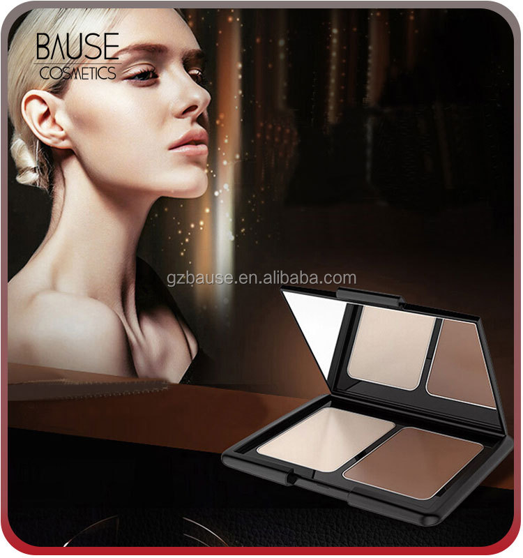 highlighter bronzer 2 color pressed contour waterproof face powder with your private label