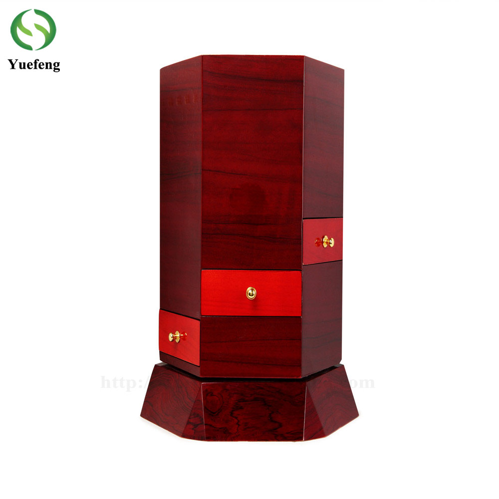 Customized Wooden Jewelry Display Stand Handmade Rotating Jewelry Storage Box