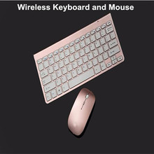 Hot selling Rechargeable Pink wireless Keyboard and Mouse Combo gaming keyboard mouse