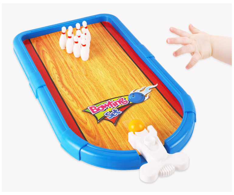 Wholesale kids sport toys table mini bowling game