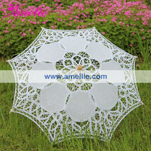 A0105 Cheap Small Kids Size Battenburg Lace Parasol