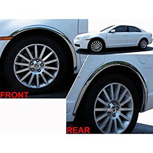 "4pc. Luxury FX Stainless 1 1/2"" L. Fender Trim w/hw for 2006-2012 Mercury Milan"
