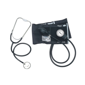 Economy tpye normal gauge tpye portable aneroid sphygmomanometer with single head stethoscope