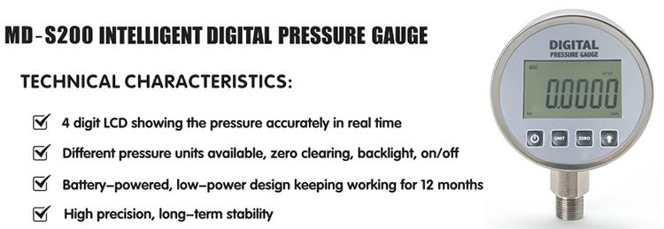 बुद्धिमान इलेक्ट्रॉनिक डिजिटल दबाव गेज के लिए तेल के दबाव गेज