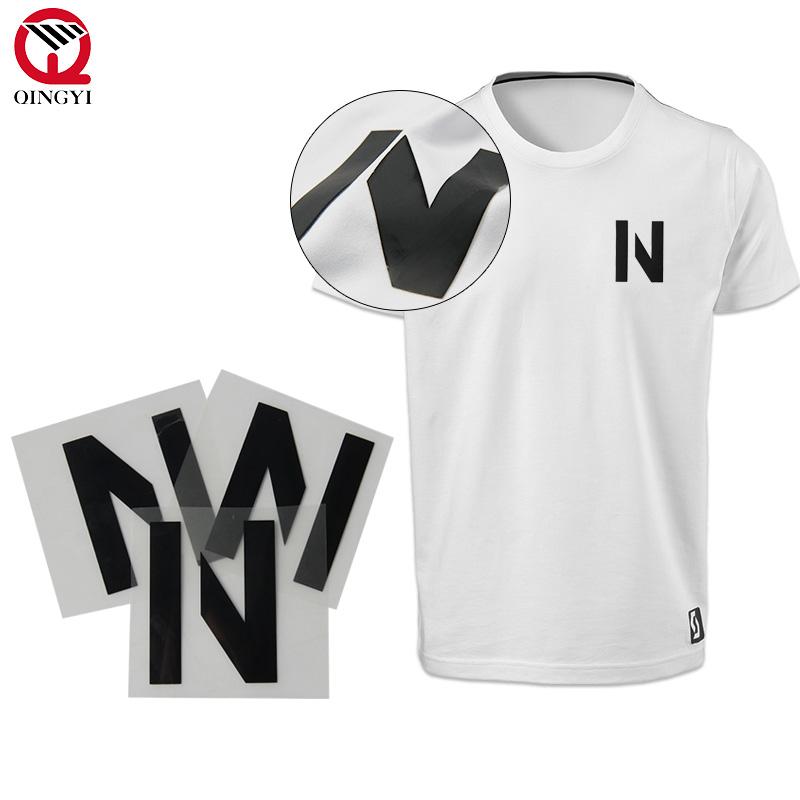38dd7092c60 Qingyi custom silicone printing 3d heat transfer garment labels ...