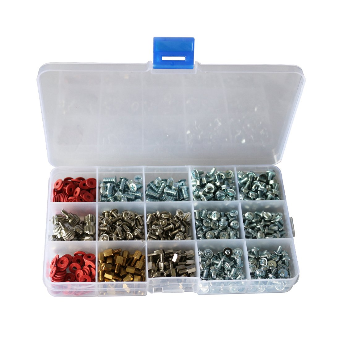 CO RODE PC Computer Screws Standoffs Fan Hard Drives Thumb Screw Set Assortment Kit for Mother Board