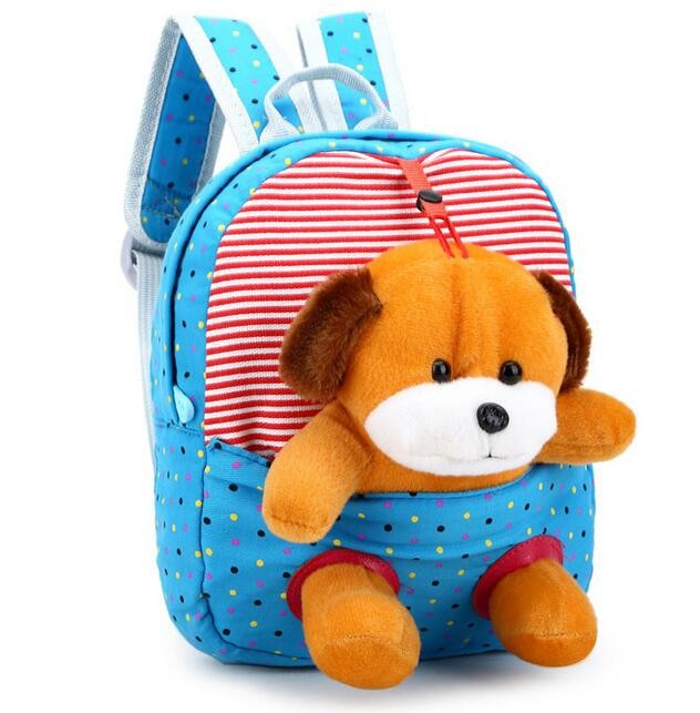 hot sale cartoon kindergarten animal little bear kids dog loveliness children school bags