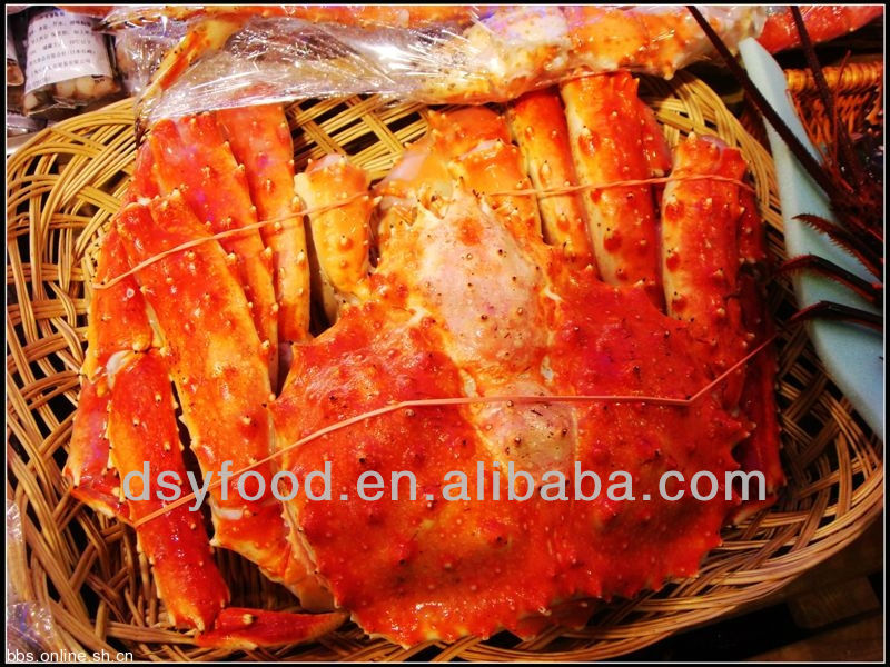 whole round deep sea king crab