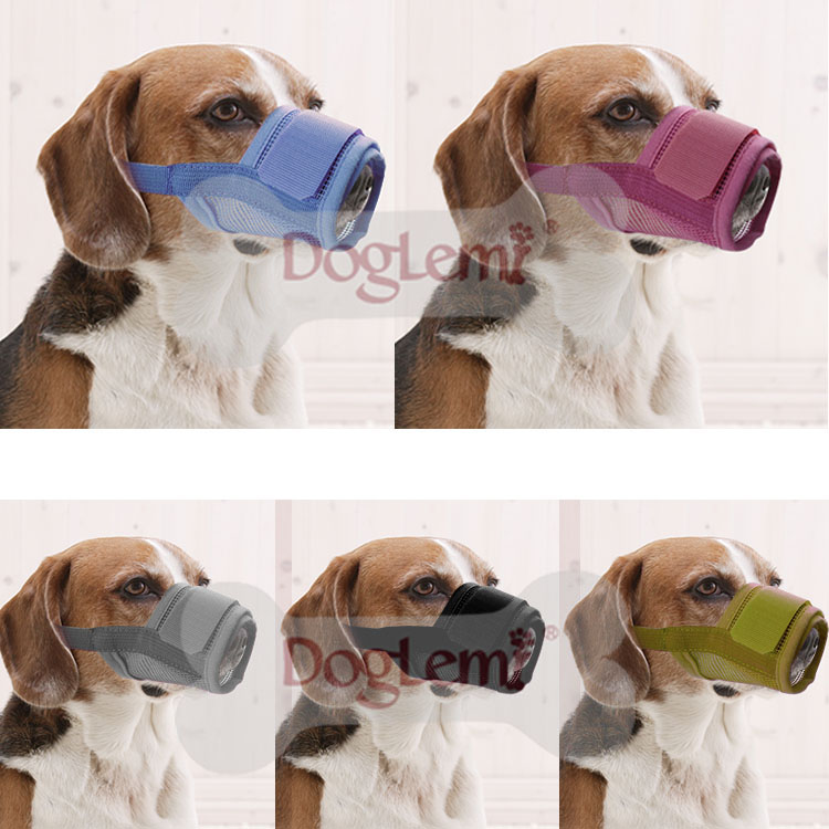 Pet accessories China safety nylon anti bite dog muzzle soft Mesh custom pet muzzle