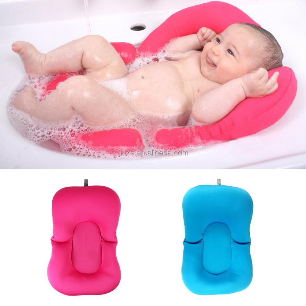 Infant Newborn Bath Tub Pillow Pad Lounger Air Cushion Floating Soft ...