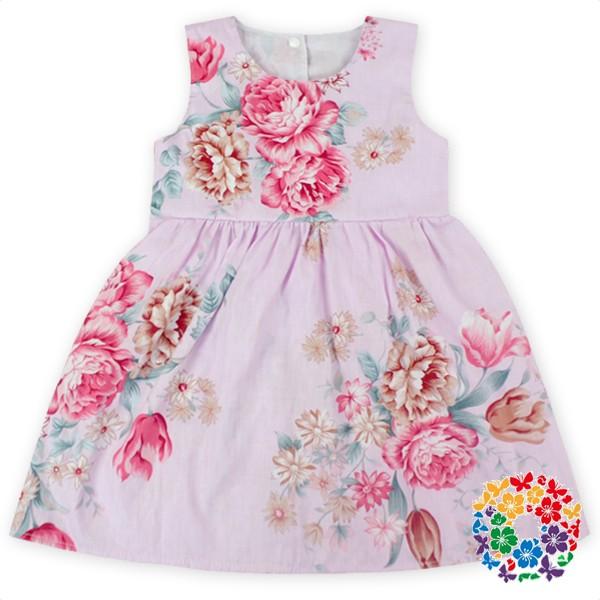 8c1136da5 2016 Fashion Pink Kids Girls Dresses Baby Girls Floral Party Wear ...