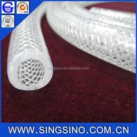 3/4'' Inch Clear PVC Braided Hose Pipe / Polyurethane Reinforced PVC Tubing / Muti-purpose Reinforced Hose