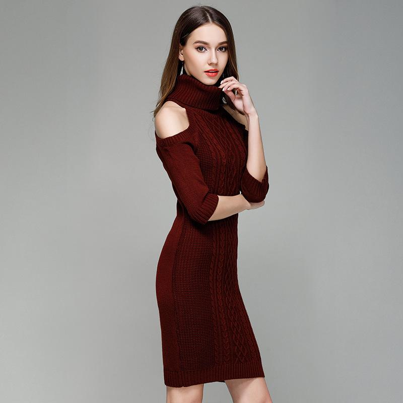 7e7e326a157b fashion cheap sweater dresses 2018 long sleeve korea clothes women clothing  winter garments drop ship designer