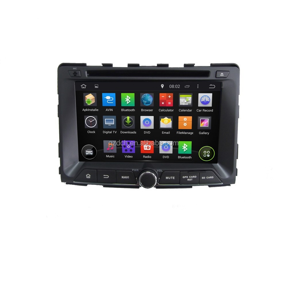 8 inch 4.4.4 android car radio for SSANGYONG RODIUS/REXTON 2014 1024*600 quad core 1G+16G optional WS-9497