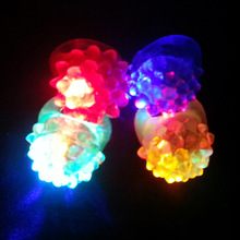 party flashing led bumpy jelly ring