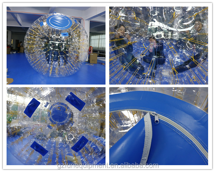 China wholesale good and safe quality inflatable human hamster zorb bumper ball