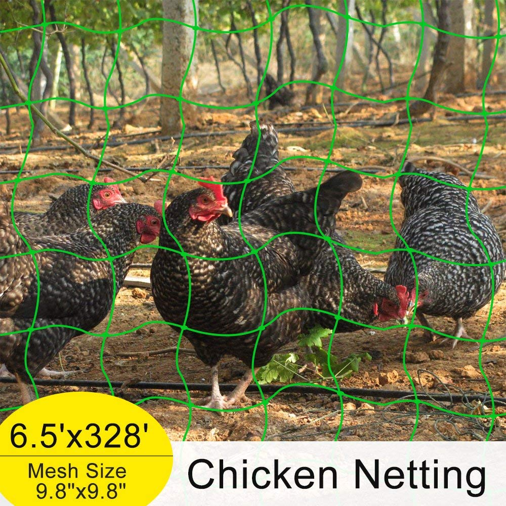 Mr.Garden Plant Netting, 328Ft Long, 0.01Inch, Trellis Netting,Chicken Netting,Poultry Fence,Cucumber Climbing Garden Netting (6 1/2Ft x 328Ft)