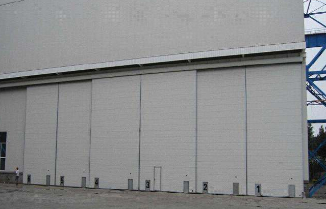 Steel structure price automatic sliding aircraft hangars doors