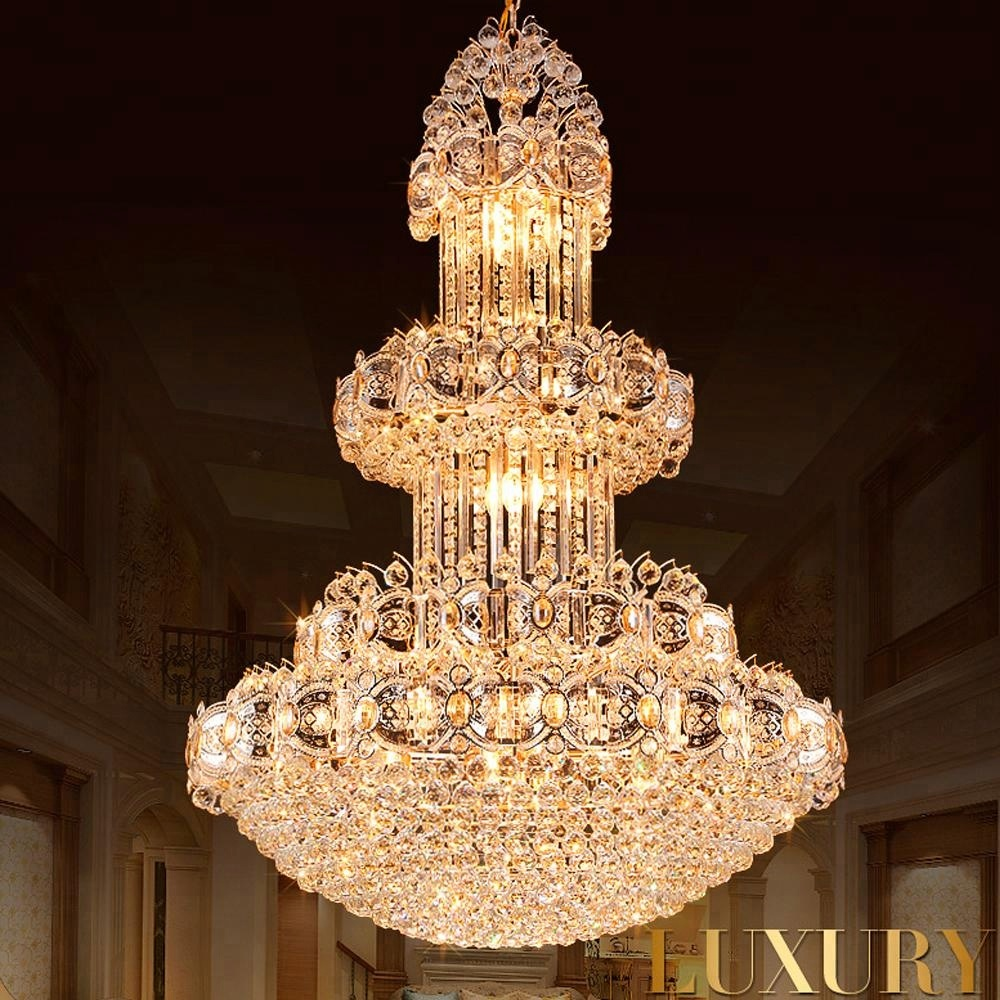 Chandeliers 6 Rings Luxury Modern Crystal Chandeliers Lustres De Cristal For Lobby Long Crystal Led Contemporary Large Crystal Circle Distinctive For Its Traditional Properties