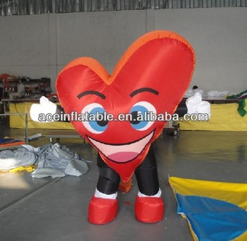 Nice Inflatable Heart Moving Costume For Valentineu0027s Day