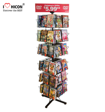 Book Store 4-Way qualificato Metallo 4-Tier Calendario Pubblicità Creativa Rotante <span class=keywords><strong>Flyer</strong></span> Display <span class=keywords><strong>Holder</strong></span>