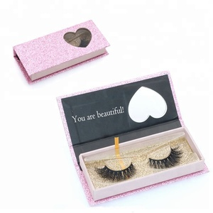 Manufacture custom eyelash box for natural premium 3D silk false eyelash