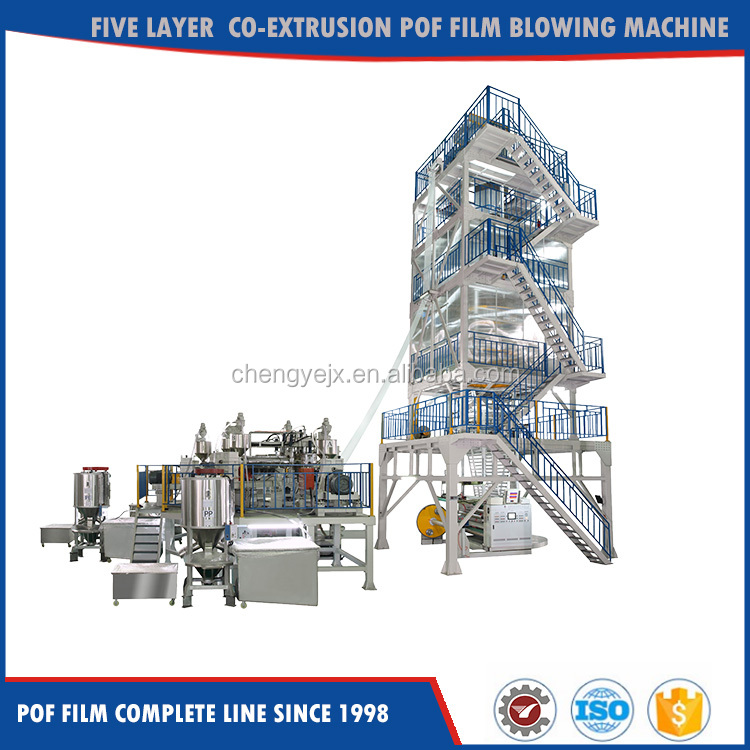 Italy Design Five Layer Pof heat shrink film extrusion line