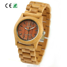 Hotsale Factory Price Bamboo Wooden Watch, Wood face Watch with Quartz Movement